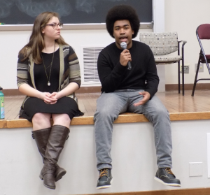 Cilento (left) and Vinson (right) presented a platform centered on recognizing struggles of marginalized students.